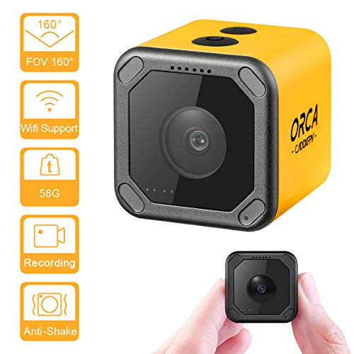 Caddx ORCA Mini Camera 4K HD Video Recording Action Cam WiFi 1080P 160 Degree M12 7G Lens Mini Nanny Camera Hidden Cam for FPV Racing Sport