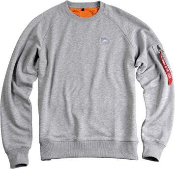 Alpha-Industries-X-Fit-Sweatshirt-Grau-XXS