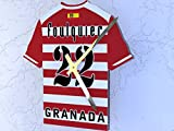 Reloj de camisa de fútbol primera la liga, Fútbol español, personalizable, Granada CF Football Shirt clock