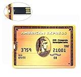 8GB Ultraslim USB-Flash-Laufwerk 8GB Speicherstick USB American Express USB-Stick Golden Kreditkarte