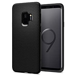 Kaufen Spigen [Liquid Air] Samsung Galaxy S9 Hülle (592CS22833) Capsule Luftpolster Air Cushion Technologie Schutzhülle mit Droid Muster Handyhülle Case (Schwarz)