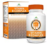 Vitamin B Complex - High Strength - B1 (Thiamine) B2 (Riboflavin) B3 (Niacin) B5 (Pantothenic) B6 B12 Biotin & Folic Acid - Suitable for Vegetarians - 180 Tablets (6 Months Supply) by Earths Design