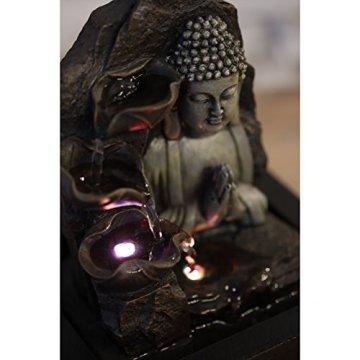 Zen'Light SPIRITUALITE - Fuente de polirresina de Color marrón Oscuro, 21x 21x 26cm. 5