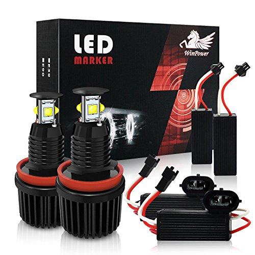 Win Power H8 40W LED Fari Angel Eyes per auto Kit di conversione alogeno CanBus nessun errore Luci...