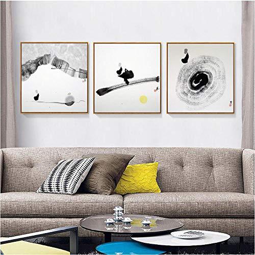 Carta da parati Carta da parati murale Pittura di sfondo divano nuova pittura decorativa cinese Pittura a inchiostro zen Divano in stile cinese@3_40 * 40CM