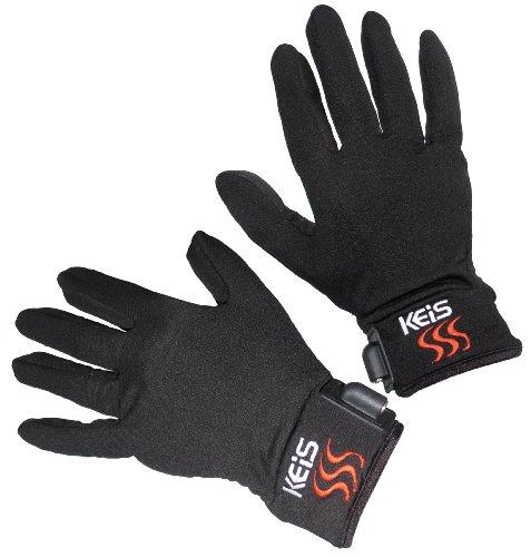 Keis Heated Clothing - Guanti da motociclista riscaldati, taglia L