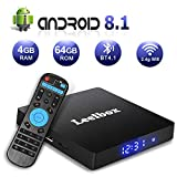 Android 8.1 TV Box, Kingbox K2 PRO Quad Core 2GB+16GB Upgrated 2.4GHz Voice Remote Supporting WiFi 3D 4K (60Hz) Full HD (Black)