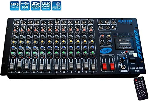 HimackTM Professional 12 Channel Stero Echo Mixer With Digital Media Player