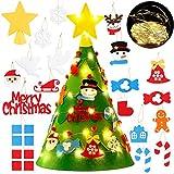 FunPa Árbol de Navidad para Niños, DIY Fieltro Adornos para árboles de Navidad Árbol de Navidad extraíble en 3D para niños Decoraciones para el hogar de Navidad