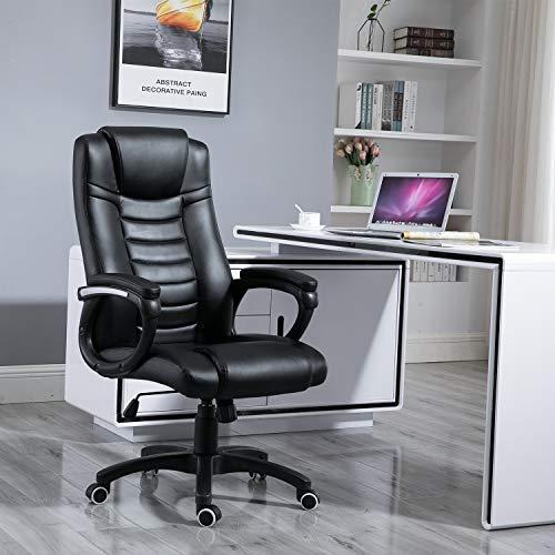 Samincom ergonomica Sedia da Gioco di Grandi Dimensioni con Schienale Alto, Sedia da Ufficio...