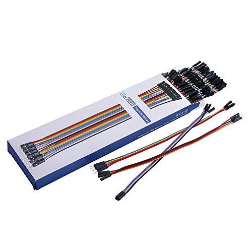 51W16yn2HuL - ELEGOO 120 Piezas de Cable DuPont, 40 Pines Macho-Hembra, 40 Pines Macho-Macho, 40 Pines Hembra-Hembra, Cables Puente para Placas Prototipo (Protoboard) para Arduino