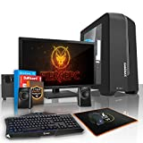 Fierce TERRA 16 PC Gamer Paquet - Vite 4 x 3.4GHz Quad-Core AMD A-Series 9600, 1To Disque Dur, 16Go of 2400MHz DDR4 RAM / Mémoire, AMD Radeon R7 Graphiques Intégrés, ASUS AM4 PRIME A320M-K Carte Mère, GameMax Centauri Noir Boite D'ordinateur/Bleu Fans, HDMI, USB3, Wi - Fi, Entrée parfaite dans les jeux PC, Windows 10 installé, Clavier (UK/QWERTY), Souris, Moniteur 21.5 pouces, haut-parleurs, 3 Ans De Garantie 222036