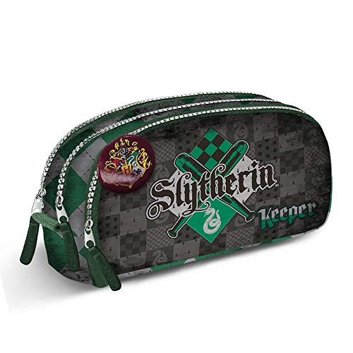 KARACTERMANIA Harry Potter Quidditch Slytherin-Note Federmäppchen Astuccio, Verde