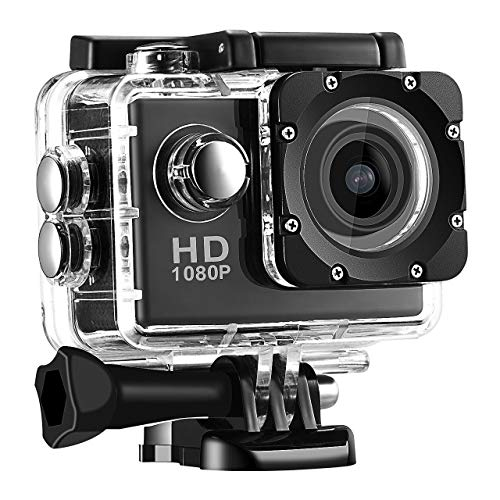 Kingsgate Full Hd 1080P Action Camera with 170° Ultra Wide-Angle Lens & Full Accessories Waterproof Digital Cam