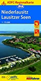 ADFC-Regionalkarte Niederlausitz Lausitzer Seen, 1:75.000, reiß- und wetterfest, GPS-Tracks Download (ADFC-Regionalkarte 1:75000)