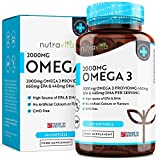 Omega 3 2000mg with 660mg EPA & 440mg DHA per Serving | 240 Softgel Capsules of Sustainably Sourced Pure Omega 3 Fish Oil | Made in the UK by Nutravita