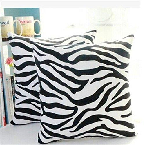 Hengbaixin creativi copridivano zebrato Copertura del Cuscino Bianco Nero Stampa Federa Divano Letto...
