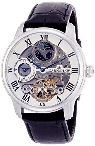 Thomas Earnshaw Longitude ES-8006-01, Orologio da Polso Analogico da Uomo, Cinturino in Pelle,...