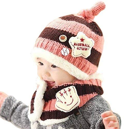 BUOCEANS Cappellini sciarpe bimbi, Inverno Sciarpa Guanti, Inverno Carino bambino Infante ragazze...