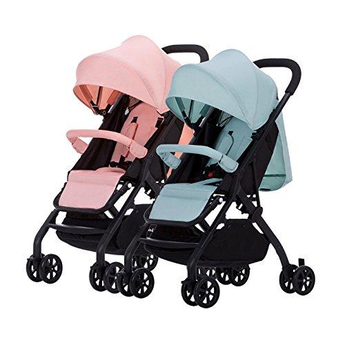 WUZHI Passeggino Gemellare Staccabile Reversing Leggero Pieghevole Secondo Bambino Baby Car Twin...