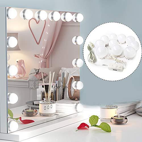 Ovonni Luci da Specchio Hollywood Style LED Vanity Mirror, Luci Specchio per Trucco Fai da Te,...