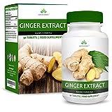 Extracto de Jengibre 600 mg - Extracto de Alta Concentración 20:1 - Para Hombres y Mujeres - Apto Para Vegetarianos - 90 Pastillas (Suministro Para 3 Meses) de Earths Design