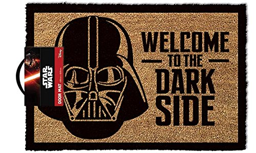 Star Wars GP85033 - Alfombra para puerta La Guerra de las Galaxias Welcome To The Dark Side, color multicolor