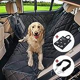 Winipet Amaca Coprisedile Auto per Cani 137 x 147cm, Protezione Sedili con Flaps Laterali & Doppie Zip & 2 Sacchi di Stoccaggio Interni con Cintura di Sicurezza e Borsa Nera per Animale Domestico