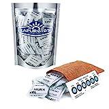 Lapurete's ® 50 × 5 Gram Gel de silice déshydratant déshumidificateurs (régénérante) + 3 Paquets Carte indicateur d'humidité
