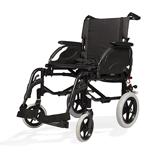 Invacare Action 2 Ng Foldable Aluminium Wheelchair (Black, Grey, Blue)