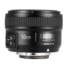 Yongnuo YN50MM Nikon - Objetivo para cámaras DSLR (f/1.8, 58 mm, AF/MF), color negro