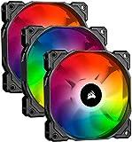 Corsair iCUE SP120 RGB PRO, 120mm RGB LED (Geräuscharm, hoher Luftdurchsatz, Gehäuse-Kühlung-Lüfter, Dreierpackung mit Lighting Controller) Schwarz