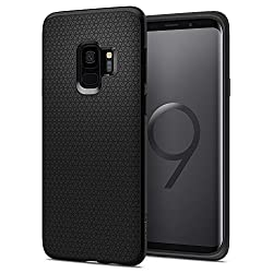 Kaufen Spigen [Liquid Air Samsung Galaxy S9 Hülle (592CS22833) Capsule Luftpolster Air Cushion Technologie Schutzhülle mit Droid Muster Handyhülle Case (Schwarz)
