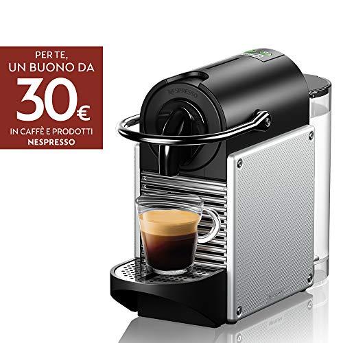 De'Longhi EN 124.S Nespresso Pixie EN124.S Macchina per caffè Espresso, 1260 W, Plastica, Argento,...