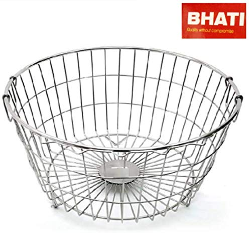 Bhati High Grade Stainless Steel Dish Drainer/Dish Drying Rack/Plate Stand/Kitchen Utensils(Round) Medium (L*B*H) 53x55x23cm