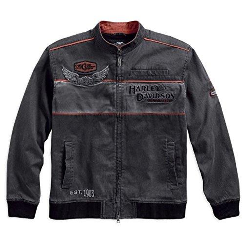 HARLEY-DAVIDSON Men's Iron Block Casual Jacket - 98577-17VM (L)