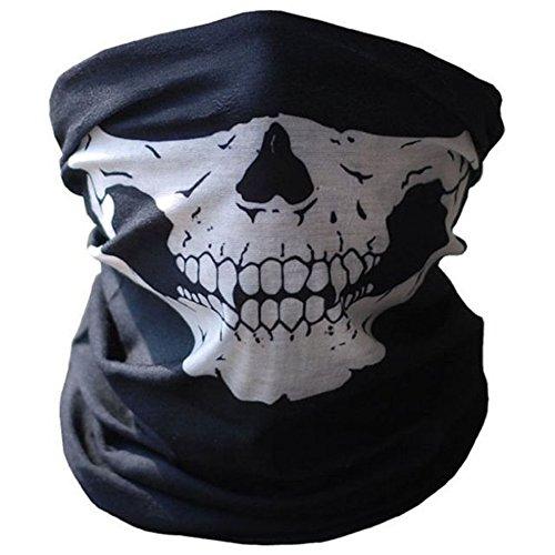 SOFIT Skull Mask Maschera Tubolare Cranica, Mezzo Cranio Maschera, Bandana Maschera Per Bici...
