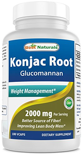 Best Naturals Konjac Root 2000 MG, 180 count
