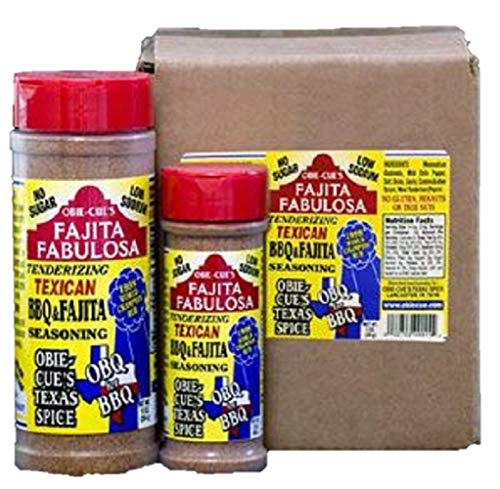 Obie-Cue'S Texas Spice Fajita Fabulosa Seasoning - 3X World Bbq Champion'S Winning Dry Rub (10 Oz)