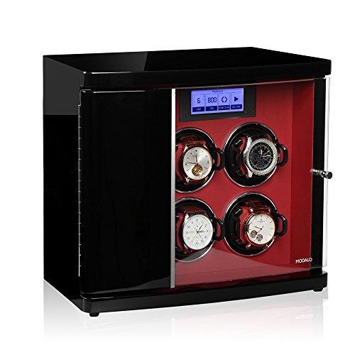 Modalo Timeless MV3 Uhrenbeweger für 6 Automatikuhren in schwarz rot 3006143