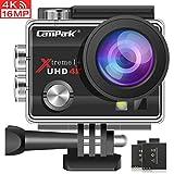 Campark ACT74 Caméra Sport 4K 16MP Wi-FI Étanche 30M 170 ° Grand-Angle 2 Pouces LCD avec 2 Batteries et 20 Accessoires