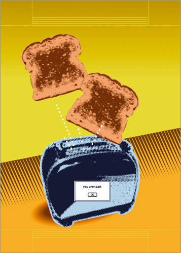 Posterlounge Stampa su PVC 13 x 18 cm: You Are Toast