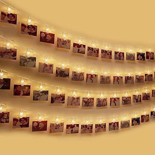 LED Foto Clip Stringa Illuminazione , otumixx 40 Foto Clips Luci di Stringa 4,2m Batteria Alimentato...