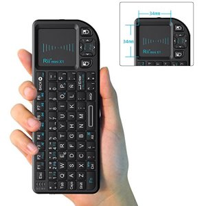51X0oOprHBL - Rii Mini X1 teclado inalámbrico con ratón táctil - compatible con Smart TV, Mini PC Android, PlayStation, Xbox, HTPC, PC, Raspberry Pi