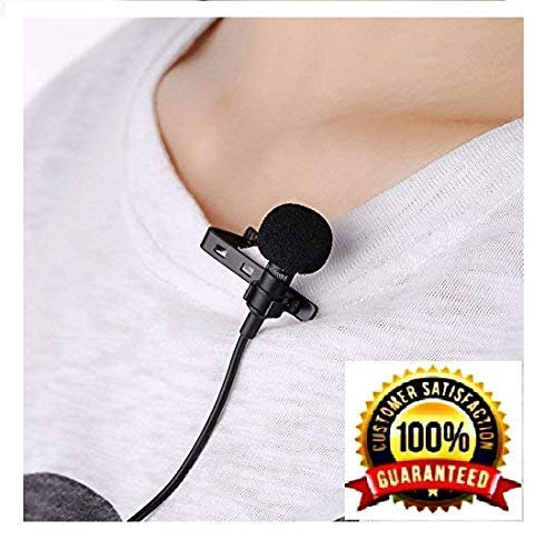 CEUTA® 3.5 mm Clip Collar Mike for Voice Recording, Mobile, Pc, Laptop, Android Smartphones, DSLR Camera (Black)