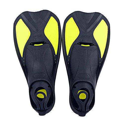 Pinne per Nuoto, Pinne Allenamento Pinne Corte progettate per Migliorare la Forza delle Gambe la flessibilità delle Caviglie,da Usare in Piscina o in Mare Aperto