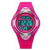 Niños Relojes Electrónicos Deportes Digitales para Niños y Niñas Alarma a prueba de agua LED Cronómetro de luz de fondo Cronómetro de niños Reloj de pulsera