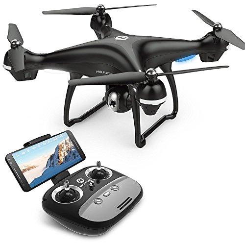 Holy Stone Drone HS100 GPS FPV RC con videocamera Live Video e GPS Return Quadcopter Home con Telecamera WiFi HD 1080P grandangolare Regolabile Seguimi, Altitude Hold