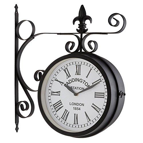Blumfeldt Paddington orologio da parete in stile stazione londinese (orologio su due lati, struttura...