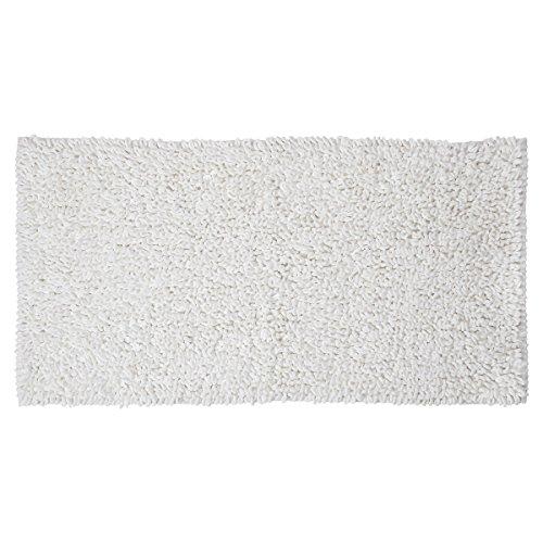 Sealskin Twist Tappeto da bagno, Tessuto, bianco, 120 x 60 x 3 cm